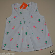 Gymboree infant baby girl parrot shirt top white 6-12 months NWT 100% cotton