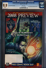 CGC 9.9 Del Rey & Dabel Brothers FCBD 2008 Edition Highest Graded