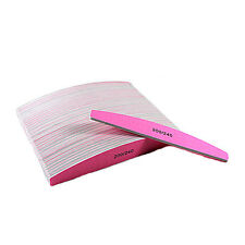 5 PCs/lot pink nail art 200 files/240 double curved side manicures sandin Buffer