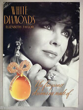Elizabeth Taylor for White Diamonds Perfume PRINT AD - 1994