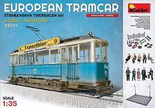 Miniart 1/35 European Tramcar w/Driver & Passengers #38009  *New*Sealed*
