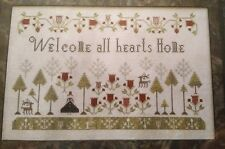 WELCOME ALL HEARTS HOME CROSS STITCH CHART PLUM STREET SAMPLERS