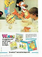 PUBLICITE ADVERTISING 116  1988   Winnie l'Ourson  l'horloge