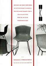 MID CENTURY 1950'S EAMES KNOLL BERTOIA CHAIRS ADVERTISEMENT A3 POSTER RE PRINT