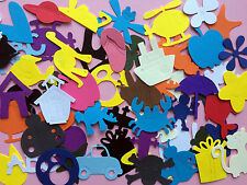 100pcs Die Cut Out Shapes on Card Stcok Scrapbooking Paper Craft Decoration