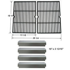 Charbroil Grill Rebuild Kit Replacement Cooking Grill Grates and SS Heat Plates