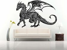 Wall Room Decor Art Vinyl Sticker Mural Decal Tribal Monster Dragon Draco FI575