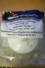 NEW Cooper Wiring Devices S759W-CD 660W-250V Pull Cord Ceiling Lampholder