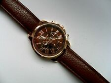 SALE Very Smart Geneva Gold and Brown Faced Quartz Watch  Brown Strap SALE