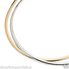 "Lia Sophia Trish Reversible Necklace!Georgeous! Silver / Gold Omega 17"" Necklace"