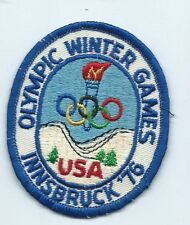 Olympic Winter Games USA Innsbruuck 76 athlete patch 3-1/2 X 2-3/4 #217
