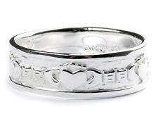 Irish Claddagh and Celtic Knot Irish Silver  ring