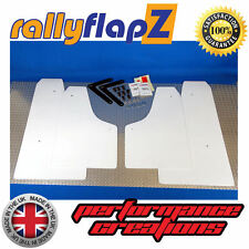 Rally Style Mudflaps to fit FORD FOCUS RS Mk2 (09-11) White 3mm PVC Mud Flaps x4