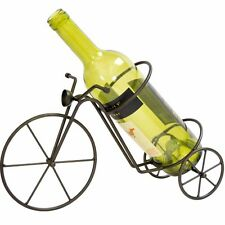 Boston Warehouse Vineyard Road Black Metal Bicycle Tabletop Wine Bottle Holder