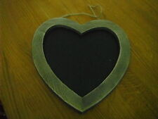 wooden heart chalk board