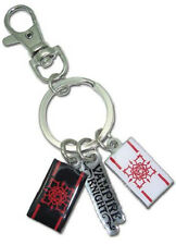 *NEW* Vampire Knight: Roses & Title Logo Metal Key Chain by GE Animation