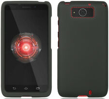 BLACK RUBBERIZED HARD CASE COVER FOR VERIZON MOTOROLA DROID MAXX / ULTRA XT1080