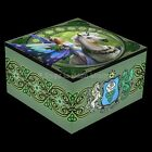 REALM OF ENCHANTMENT Fairy Unicorn Dragon Trinket Box With Mirror By Anne Stokes