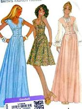 NEW FAB VTG 70s SEXY CORSET EVENING GOWN PROM DRESS Misses Sewing Pattern 4405 8