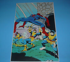 MARVEL COMICS X-MEN VS SPIDERMAN POSTER PIN UP