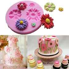 Silicone 3D Flower Fondant Cake Chocolate Sugarcraft Mold Decorating Tools DIY