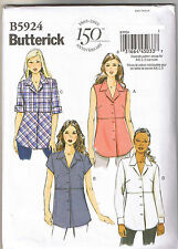 Easy Misses Button Up Down Shirt Top Butterick Sewing Pattern Sz 10 12 14 16 18