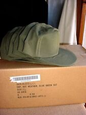 NEW OLD STOCK Regulation US Army Hot Weather OG Olive Green Field Cap Hat Size 7