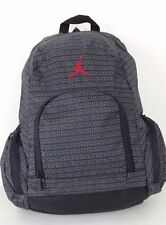 Nike Air Jordan Jumpman Backpack Laptop Bag Black Red Grey 9A110-023