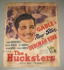 Original 1947 MGM's The Hucksters (Clark Gable, Deborah Kerr) Movie Card/Poster