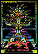 Custom limited edition Aztec/Mayan Glow in the dark velvet black light posters