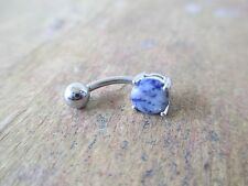 Petite Sodalite Natural Stone Piercing Jewelry Belly Navel Ring