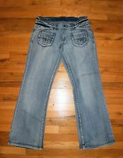 """VINTAGE"" Brand ~Size 13 / 35"" x 33.5"" ~Destroyed Low-Rise JEANS ~Heavy Cotton"