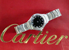 CARTIER COUGAR LADY ACCIAIO STEEL WATCH UHREN OROLOGIO MONTRE PANTHERE