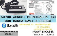 AUTODIAGNOSI MULTIMARCA 2016 BLUETOOT ITALIANO+BANCA DATI DIAGNOSI AUTO