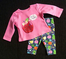 Baby clothes GIRL 0-3m bright George outfit fruits pink/dark blue COMBINE POST!