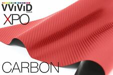 VViViD Blood Red Dry Carbon Fiber texture car auto wrap Vinyl 1ft x 5ft decal
