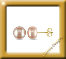 Echte Rosa Button Akoya Perlen ca 7mm Ohrstecker Ohrringe Gold 750 Neu 18 kt