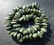 "SERAPHINITE POLISHED NUGGET BEADS ~ 16"" STRAND ~ RARE ! GREAT FOR JEWELRY !"