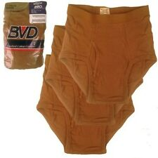 5 x  BVD Briefs Underwear Mens Size 32 Brown Military Issue USGI Tactical  Army