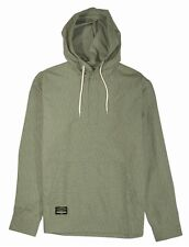 Fourstar KOSTON PONCHO Mens Henley Pullover Hoodie Shirt Large Olive  NEW