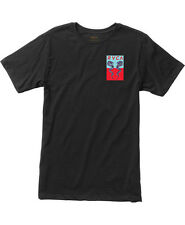 NWT MEN'S RVCA EELS T-SHIRT SIZE MEDIUM BLACK GRAPHIC SURF TEE SKATE