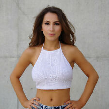 New women Fashion white and olive Tank-Bustier T Shirt Vest Crop Top Blouse