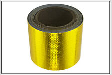 "2""x33' Roll Self Adhesive Reflective Gold High Temperature Heat Shield Wrap Tape"