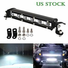 SLIM 7 INCH 18W CREE LED WORK LIGHT BAR SINGLE ROW DRIVING LAMP UTE ATV SUV JEEP