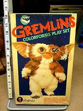 GREMLINS incomplete vinyl Colorforms 1984 vtg beat-up toy GIZMO & STRIPE