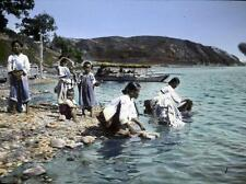 Photo. 1910s. Korea. Washing at Waterfront