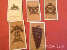 cigarette cards colonial & indian army badges & walters toffee card lincolnshire