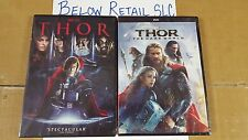 THOR + THOR: THE DARK WORLD (DVD) (Both  Complete Set 1 & 2  NEW Avengers Marvel