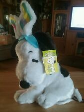 "SNOOPY PLUSH MUSICAL EASTER IS 12"" Snoopy is a Bunny plays Theme Song & dances"