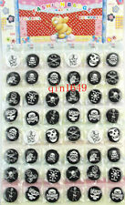 48Pcs/Lot Skulls Badge Button Pin Children Patry Gift Wholesale--30MM
